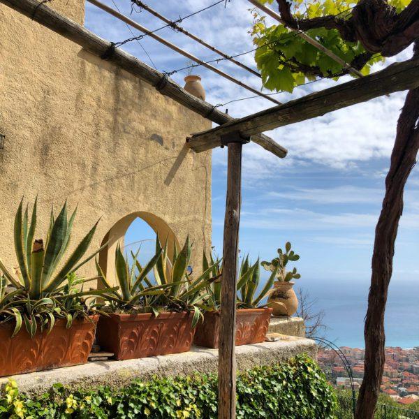 Verezzi, the view over the sea from Borgata Roccaro