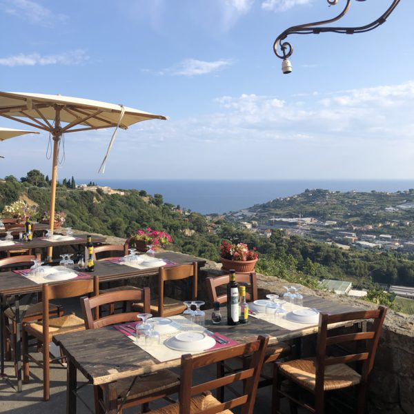 Bussana Vecchia, restaurant with a view