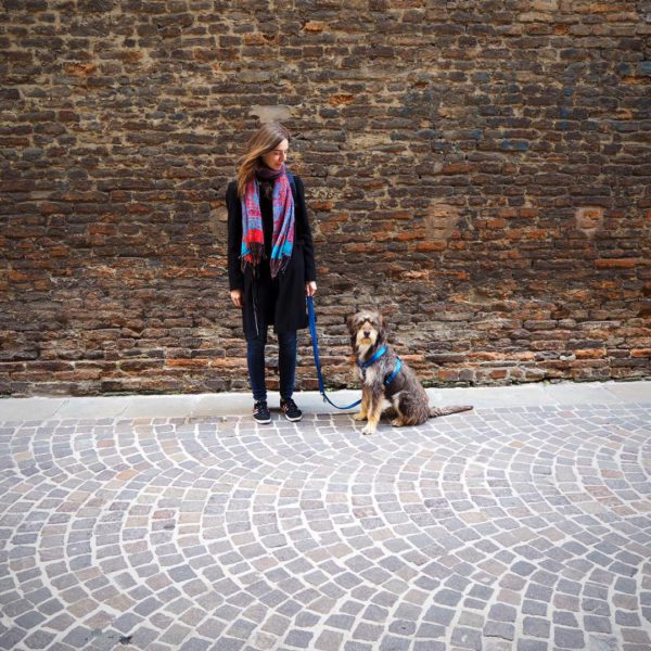 Denisa Ivančinová, a photo with her dog