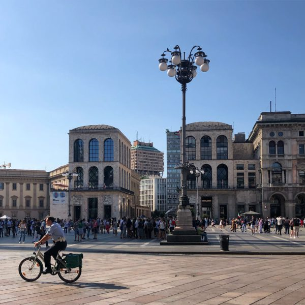 This is a view of Piazza Duomo in Milan