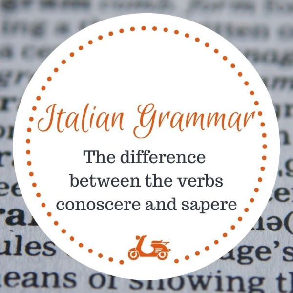 This post is about the difference between conoscere and sapere and has a downloadable pdf file inside.