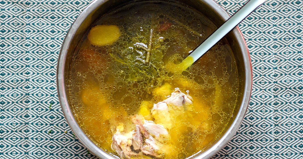 hearty instant pot chicken bone broth pressure cooker recipe