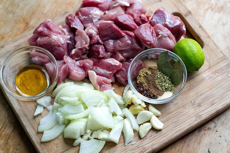 Making instant pot pulled pork - ingredients