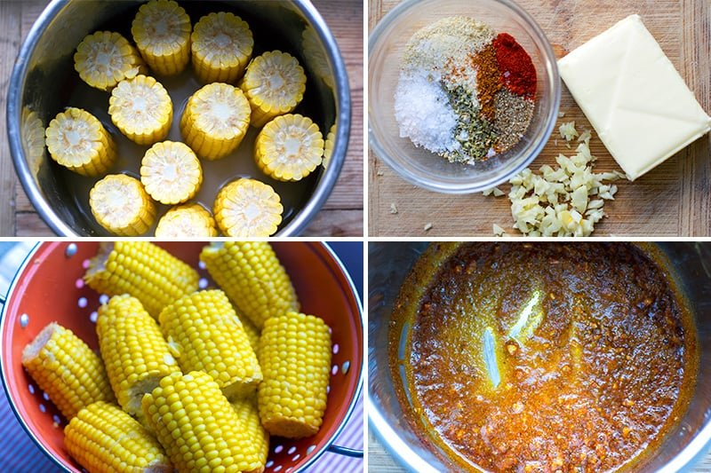 Making corn on the cob in the pressure cooker