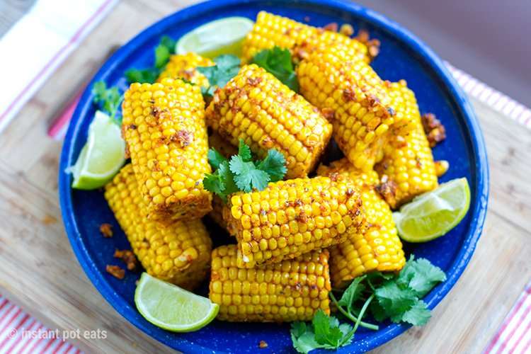 Instant Pot Corn On The Cob With Cajun Butter & Lime