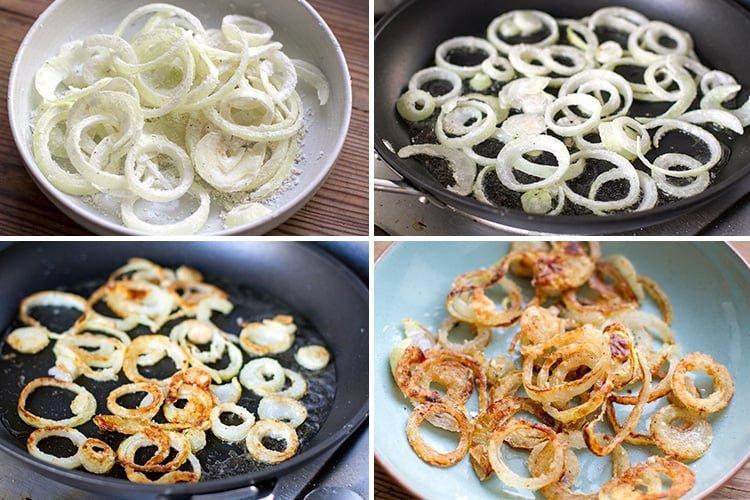 How to make crispy fried onions (gluten-free)