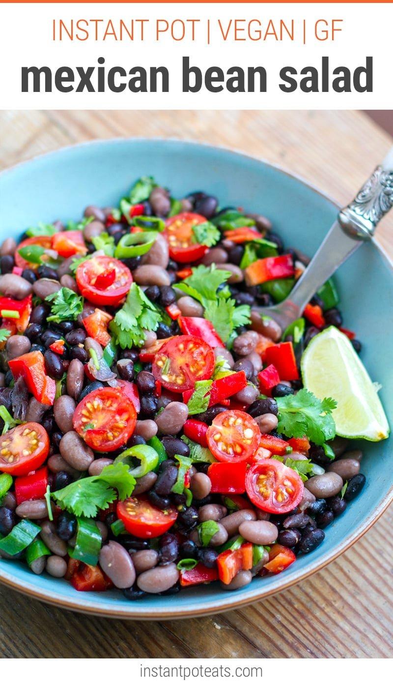 Instant Pot Mexican Bean Salad (Vegan, Gluten-Free)