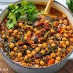 Instant Pot Chickpea Stew Moroccan Style (Vegan, Gluten-free)