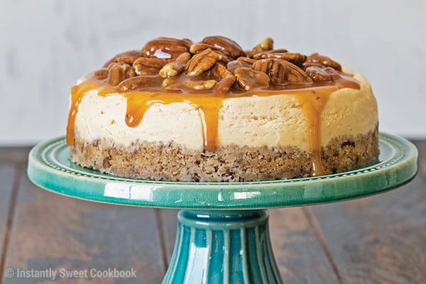 Best Instant Pot BBQ Party Recipes Carmel Pecan Cheesecake