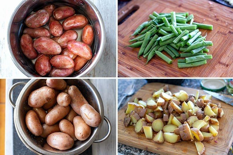 Instant Pot potato salad steps