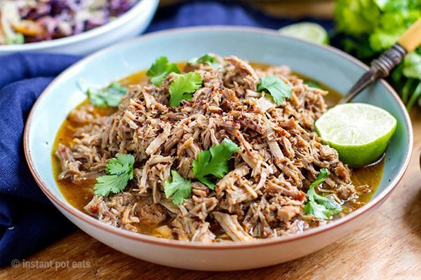 20+ Instant Pot Mexican Recipes: Shredded pulled pork