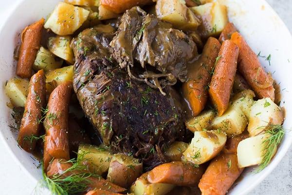 Instant Pot 'Frozen' Roast Beef & Potatoes