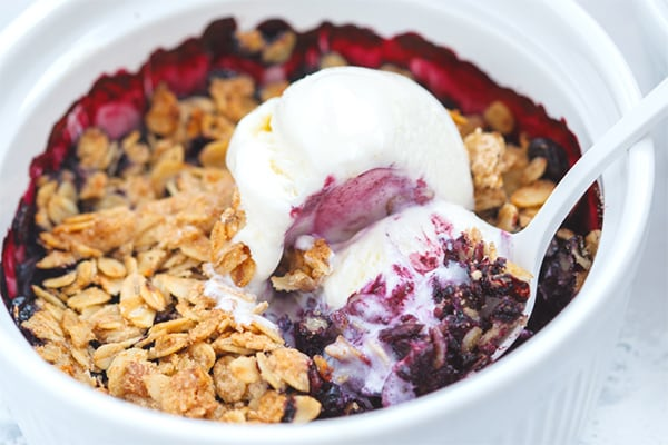 Instant Pot Berry Cobbler (using frozen berries)