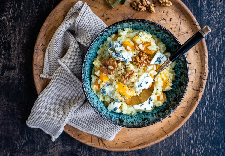 Instant Pot Butternut Squash Risotto With Blue Cheese (recipe from Lucy Parissi)
