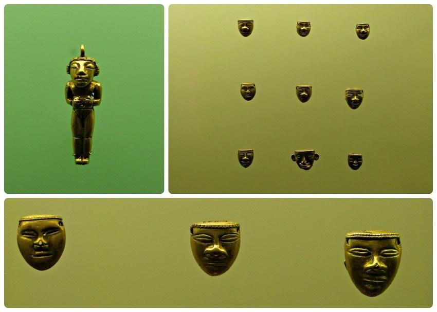 Objetos y estatuas presentadas en el Museo del Oro de Armenia