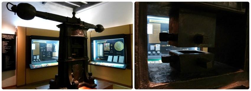 Presse pour fabriquer de la monnaie à la Casa de la moneda de Bogotá