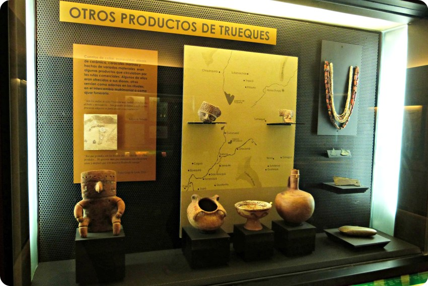 Vitrine de la Casa de la moneda de Bogotá sur le troc