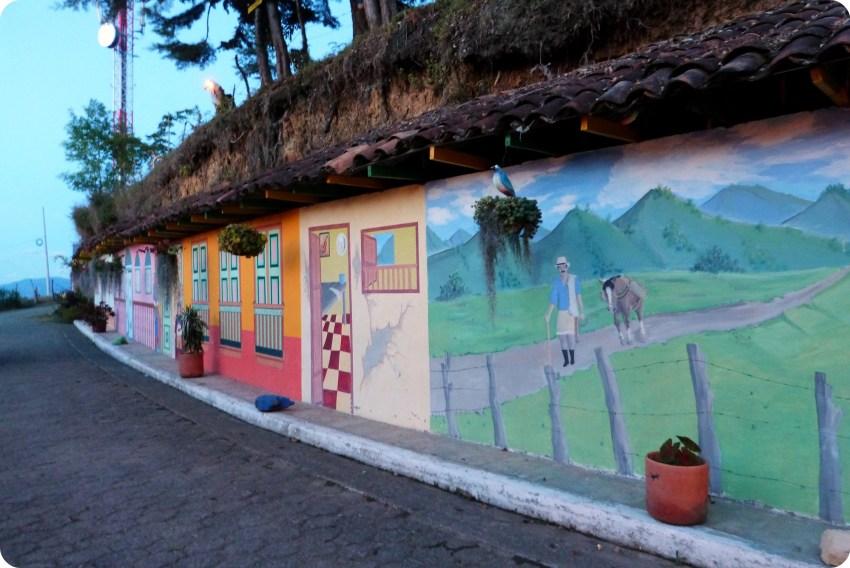 Fresco mural en el Pueblito Viejo de Aguadas
