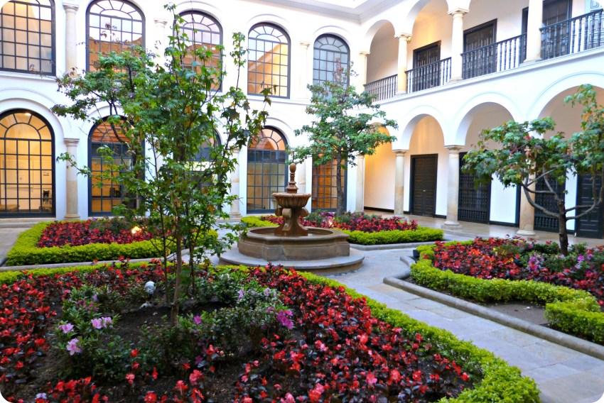 Patio du musée Botero de Bogotá