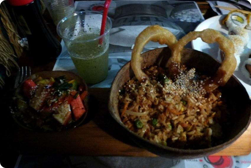 Plat que Charlène a commandé au restaurant de sushis Totuma Corrida dans le quartier de la Candelaria à Bogotá