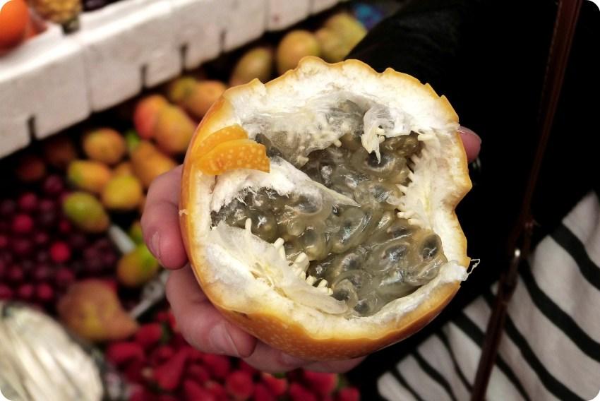 Fruit à pépins au marché de Bogotá