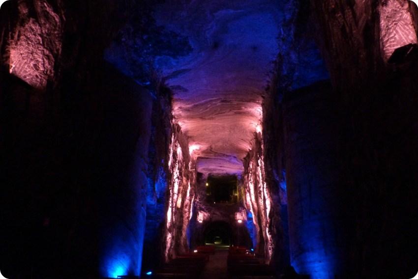 Intérieur de la cathédrale de sel de Zipaquira