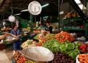 Légumes sur une étal au marché de Bogotá