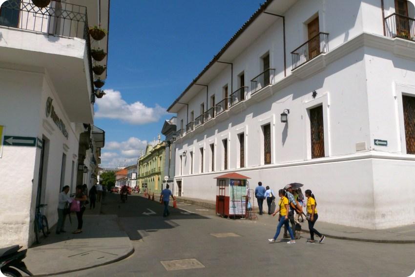 Calle del centro de Popayán