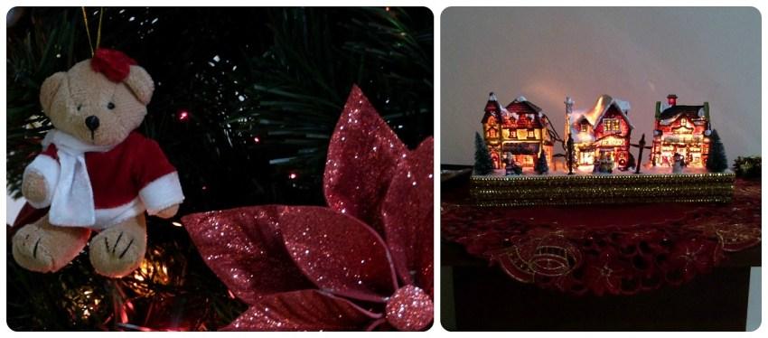 Detalles en el árbol de navidad y bélen
