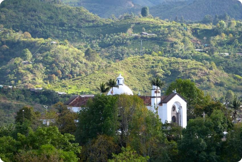 Vista de Belén desde el Morro del Tulcán de Popayán