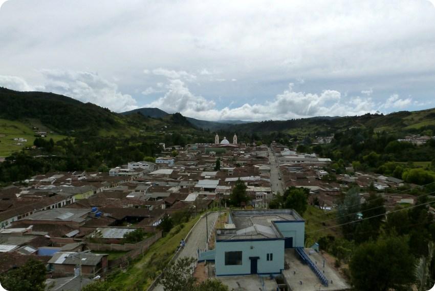 vista de la ciudad de Silvia desde la iglesia de belén