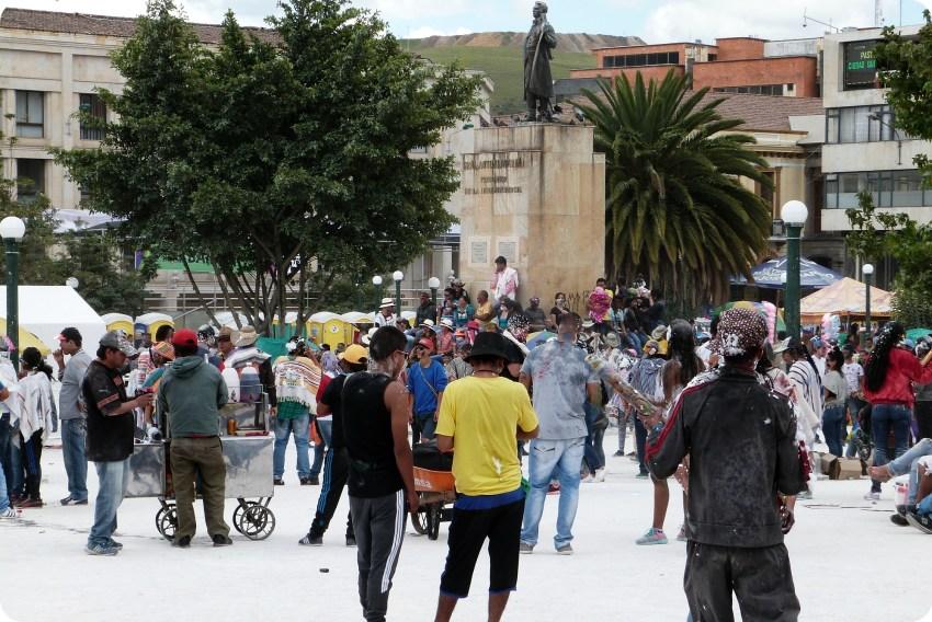 Plaza Nariño à Pasto pendant le Carnaval