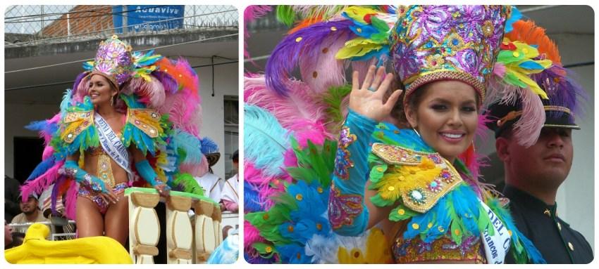 reina del desfile del carnaval de Pasto
