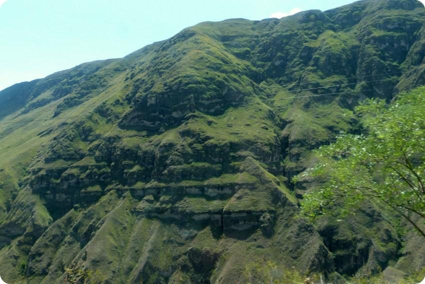 paisaje en la ruta de Pasto