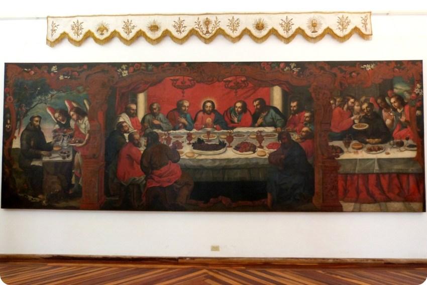 Cuadro de la Última Cena en el museo arquidiocesano de Popayán