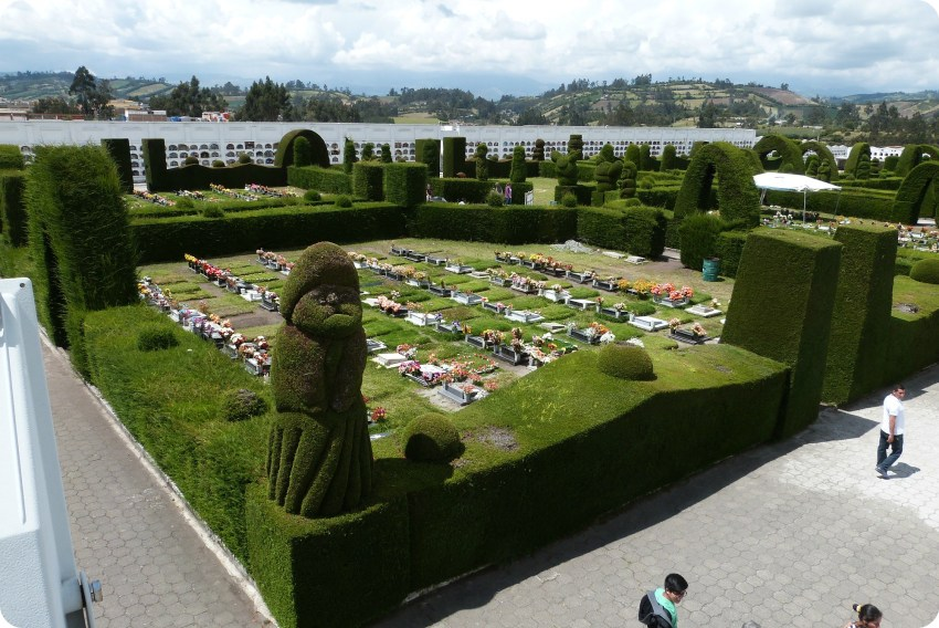 vista en la tumbas del cementerio de Tulcán