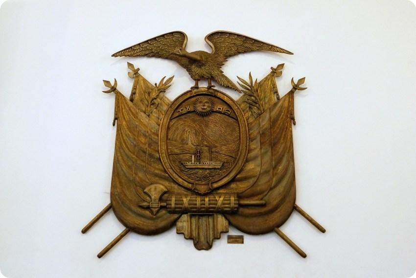 Escudo de Quito en el Palacio Presidencial de Quito
