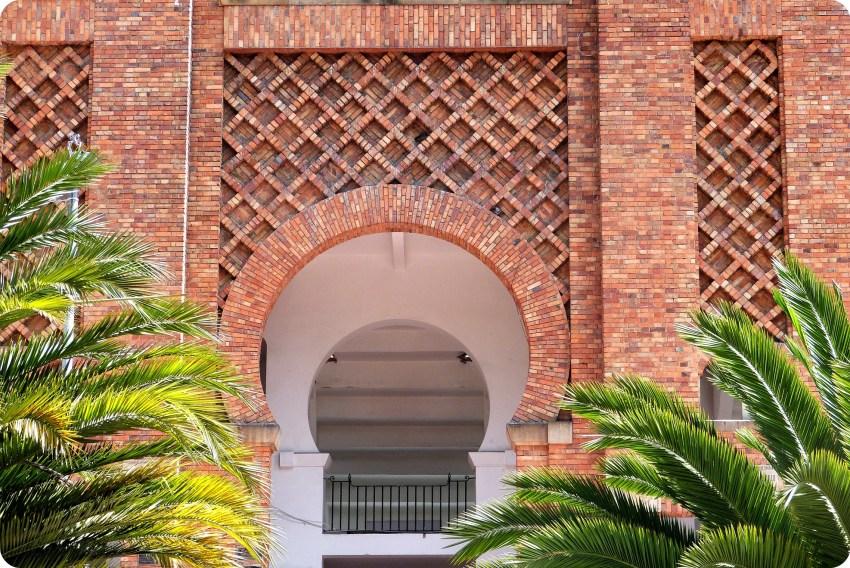 Detalle de una ventana de la Plaza de Toros de Bogotá