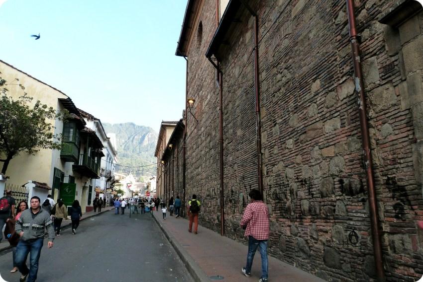 rue du centre historique de Bogotá