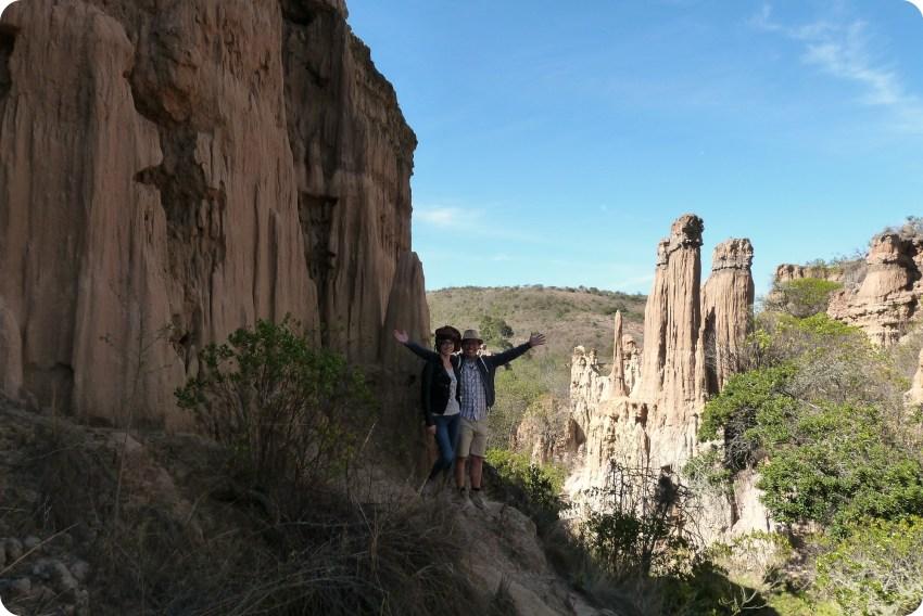 Charles et moi dans le désert de la tatacoita de Nemocón