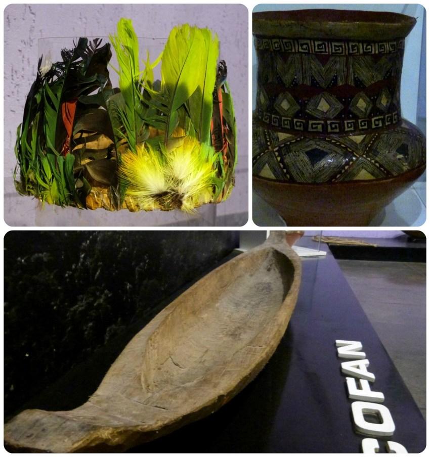 Cofia, flojero y barca en el museo de la Mitad del Mundo de Quito