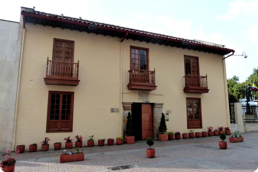 Fachada de la Casa Museo Francisco Caldas de Bogotá