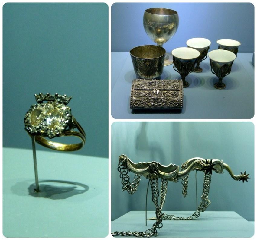 objetos expuestos en el Museo nacional de Colombia de Bogotá