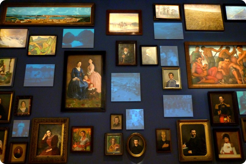 cuadros en el Museo nacional de Colombia de Bogotá