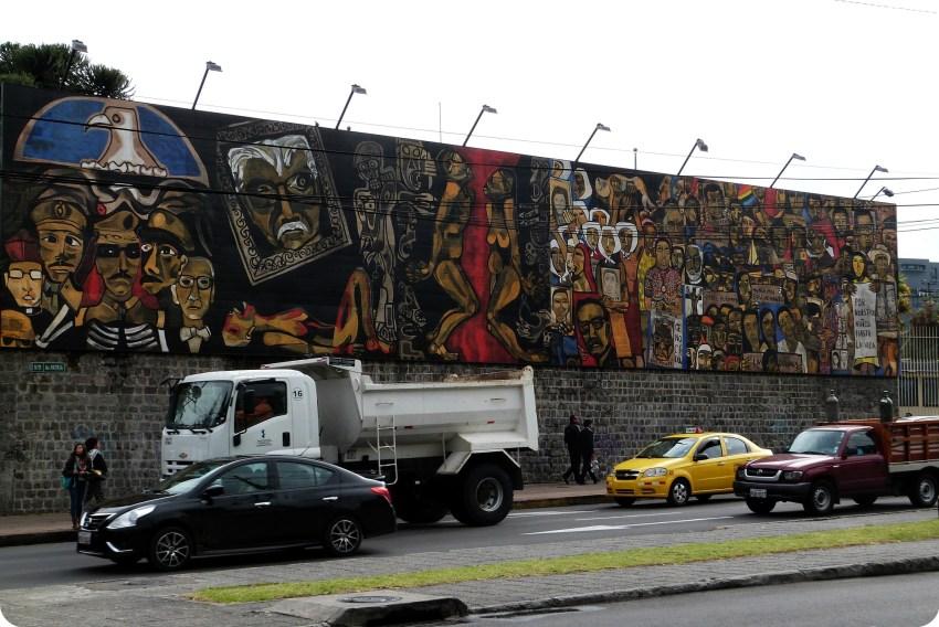 street art en un muro de Quito