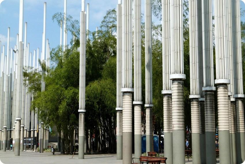 Parque de las luces en la Plaza Cisneros de Medellín