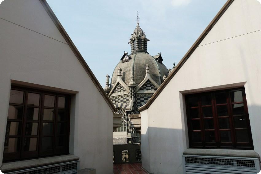 torre en lo alto del Palacio de la Cultura de Medellín