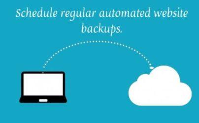 Schedule regular website backups