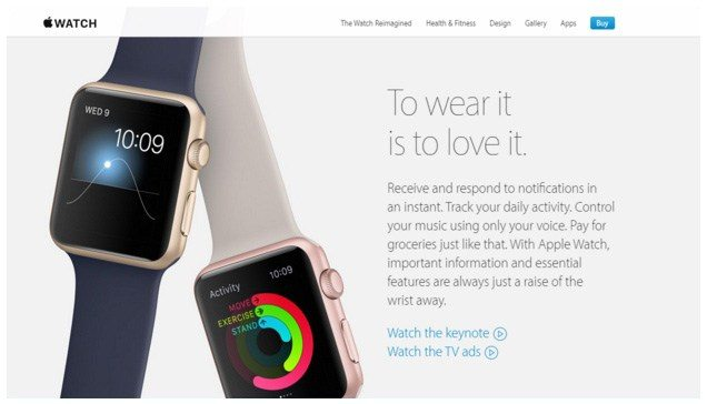 "This picture shows how the Apple Watch uses the mobile PPC trend ""Internet of Things"" to generate more sales."