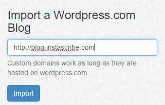 Import WordPress.com Blog